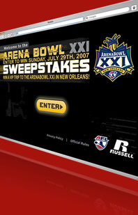 Russel Athletics - Arena Bowl XXI Sweepstakes